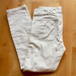 NWOT tory burch white skinny jeans size 27
